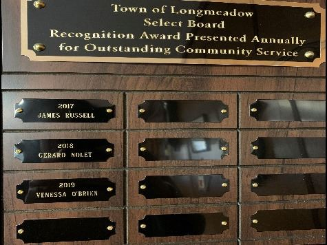 Citizen of the Year Plaque with names 2017-2019