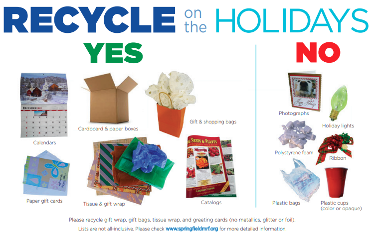 recycle on the holidays