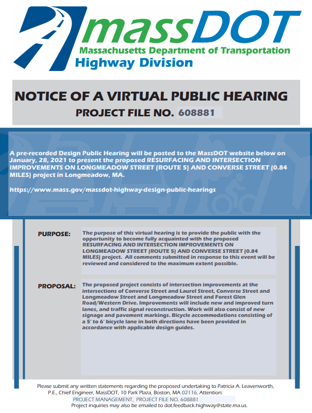 L Project Notice of Hearing